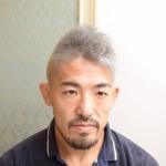 町田 美容室 美容院 メンズ カット 格闘家 シルバー アッシュ